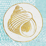 Summer Shells III Teal and Gold