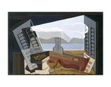 La fenêtre ouverte (1921) Reproduction d'art par Juan Gris