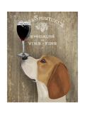 Dog Au Vin Beagle Reproduction d'art par Fab Funky