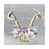 Antlers & Flowers I