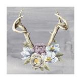 Antlers & Flowers I
