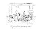 """I'll give you a hint—it's sold only on TV"" - New Yorker Cartoon"