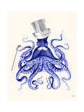 Octopus About Town Reproduction d'art par Fab Funky