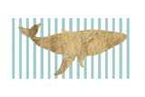Pin Stripe Whale I