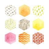 Honeycomb Patterns I Reproduction d'art par June Vess