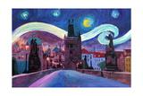 Starry Night in Prague Van Gogh Inspirations