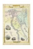 Vintage Map of Egypt
