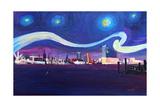 Starry Night in Hamburg Van Gogh Inspirations
