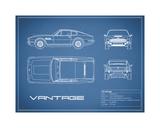 Aston V8 Vantage-Blue