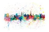 Newcastle England Skyline Reproduction d'art par Michael Tompsett