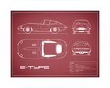 Jaguar E-Type-Maroon