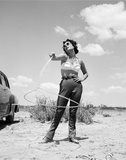 Elizabeth Taylor with Lasso Set of Giant 1955