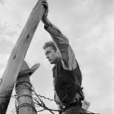 James Dean Hand on Post Set of Giant 1955