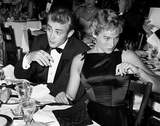 James Dean and Ursula Andress at Oscar Dinner 1955