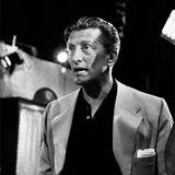 Kirk Douglas on Set of Jack Benny Show 1958