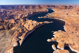 Aerial View of Lake Powell  Near Page  Arizona and the Utah Border  USA  February 2015
