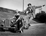 Marilyn Monroe and Sammy Davis Jr on Set of How to Marry a Millionaire 1953