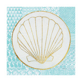Summer Shells II Teal and Gold