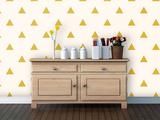 Triangles - Pollen Self-Adhesive Wallpaper