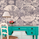 Map of the World (cica 1702) Self-Adhesive Wallpaper