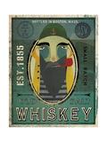 Fisherman VII Old Salt Whiskey Reproduction d'art par Ryan Fowler