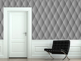Quilted - Smoke Self-Adhesive Wallpaper