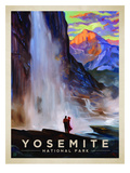KC NP Yosemite Falls Reproduction d'art par Anderson Design Group