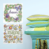 Dream  Imagine Peel and Stick Color Your Decal