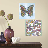 Butterfly Peel and Stick Color Your Decal