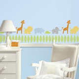 Kathy Davis Animals on Parade Peel and Stick Wall Decals