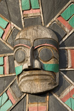 Canada  British Columbia  Vancouver Island Raven Above Sea Serpent with Wolf and Macquinna Mask