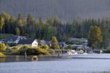 Canada  British Columbia  Cowichan Lake Waterfront Houses and Docks