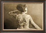 Portrait of a Tattooed Woman  C1895