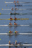 Double Scull Race  Maadi Cup Regatta  Lake Karipiro  Waikato  North Island  New Zealand