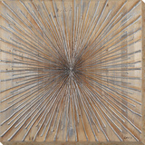 Silver Starburst* - Reclaimed Wood Wall Art