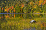 Autumn Reflections  Bubble Pond  Acadia National Park  Maine  USA