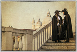 Couple on Bridge During Carnival  Venice  Italy