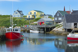 Canada  Peggy's Cove  Nova Scotia  Peaceful and Quiet Famous Harbor with Boats and Homes in Summer