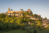 Evening Sunlight on Medieval Town of Turenne  Limousin  Correze  France
