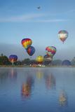Balloons over Waikato Festival  Lake Rotoroa  North Island  New Zealand