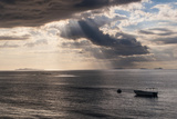 Dramatic Light over a Little Boat  Mamanucas Islands  Fiji  South Pacific