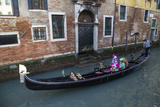 Couple Dressed for Gondola Ride Venice at Carnival Time  Italy