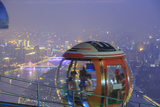 Ferris Wheel Near Top of Canton Tower  Observation Deck  Guangzhou  China