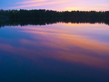 Canada  Ontario  Quetico Park  Lake Agnes Sunset Wilderness  Pink Sunset