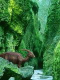 Concept of Parasaurolophus Dinosaur in Prehistoric Canyon