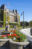 Canada  British Columbia  Victoria Colorful Floral Display Along Waterfront