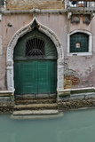Building and Doorways Along the Many Canals of Venice  Italy