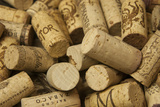 Close-Up of a Pile of Wine Cork Collection