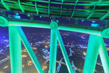 Ferris Wheel Structure Near Top of 600 Meter Canton Tower  Observation Deck  Guangzhou  China