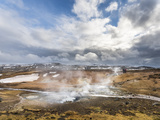 Geothermal Area Seltun Heated by the Volcano Krysuvik on Reykjanes Peninsula During Winter